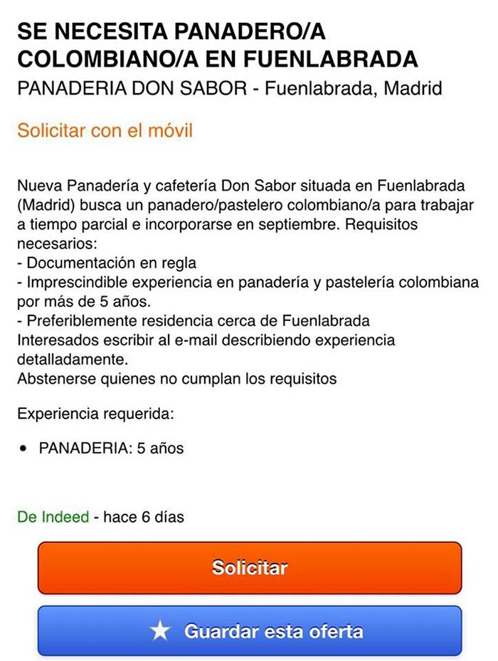 Los Españoles Discriminados Una Oferta De Empleo En Madrid Da