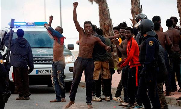 Resultado de imagen de africanos Ceuta