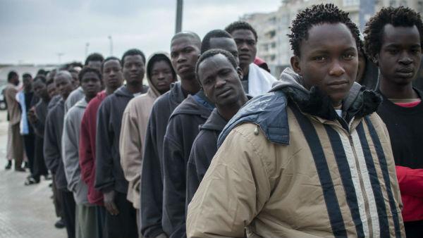 inmigrantes negros cola