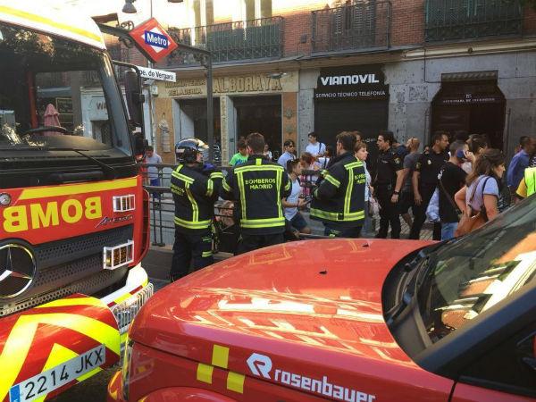 Miedo y corridas en el subte de Madrid: explotó el celular de una pasajera