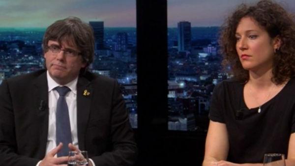 Un periodista pone contra las cuerdas a Puigdemont en la televisión flamenca