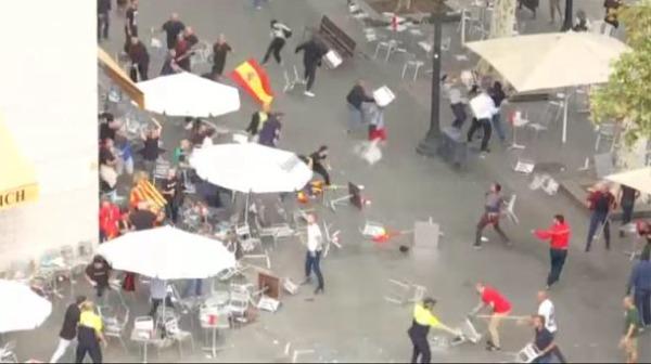 barcelona batalla campal