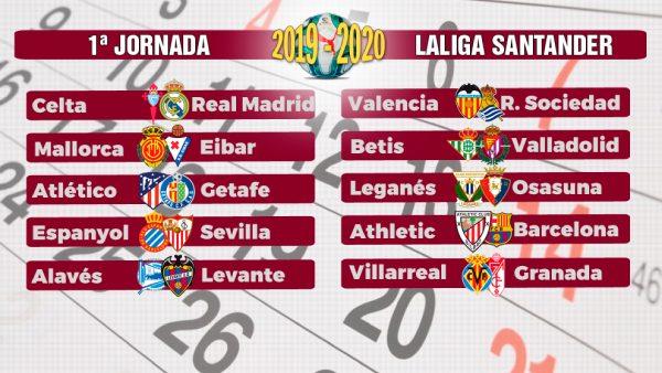 Calendario La Liga 2019.El Calendario De Laliga 2019 2020