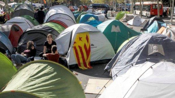 acampada independentista