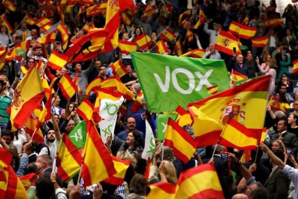 vox banderas espana