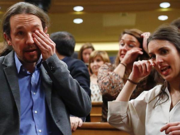 pablo iglesias irene montero lloran