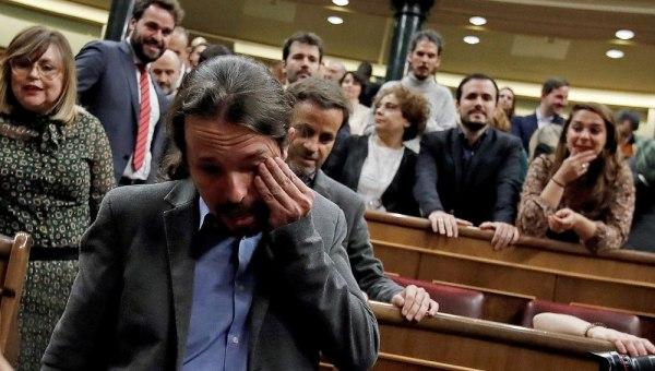 pablo iglesias llora