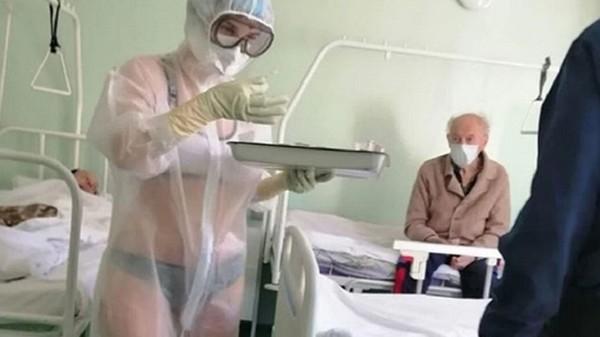 enfermera lenceria